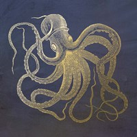 Golden Octopus Fine Art Print