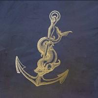 Golden Anchor Framed Print