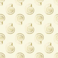 Golden Shell Pattern Fine Art Print