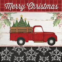 Merry Christmas Truck Fine Art Print