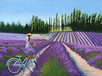 Picking Lavender Fine Art Print
