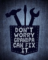 Don't Worry In Blue Fine Art Print