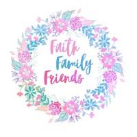 Faith, Family, Friends-Pastel Fine Art Print