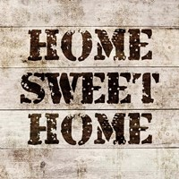 Home Sweet Home In Wood Fine Art Print