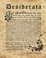 Old English Desiderata Fine Art Print