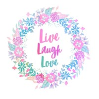 Live, Laugh, Love-Pastel Fine Art Print