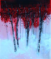 Red & Black Forest Fine Art Print
