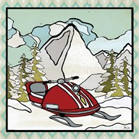 Retro Snow Mobile Fine Art Print