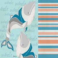Nautical Whales Fine Art Print