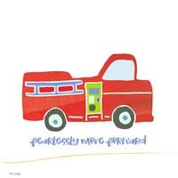 Go Fearlessly Firetruck Framed Print