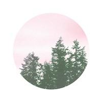 Pink Sky Over Trees Fine Art Print