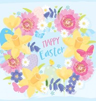 Happy Easter - Flowers Fine Art Print