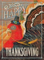 Happy Thanksgiving Turkey Fine Art Print