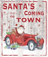 Santa's Coming to Town Fine Art Print