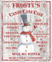 Frosty's Candy Cane Cafe Fine Art Print