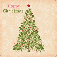 Happy Christmas - Tree Fine Art Print