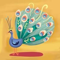 Fancy Peacock Fine Art Print
