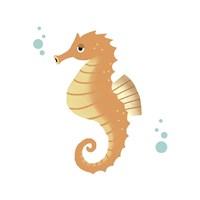 Sea Creatures - Seahorse Fine Art Print