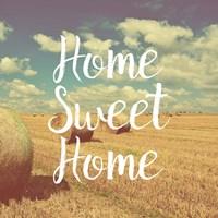 Home Sweet Home Bales of Hay Fine Art Print