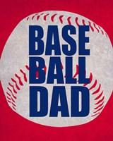 Baseball Dad In Red Fine Art Print