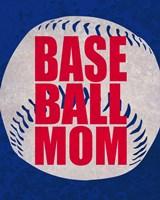 Baseball Mom In Blue Fine Art Print