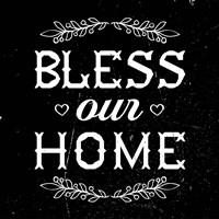 Bless Our Home-Black Fine Art Print