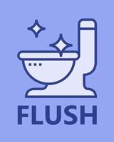 Boy's Bathroom Task-Flush Fine Art Print