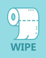 Boy's Bathroom Task-Wipe Fine Art Print