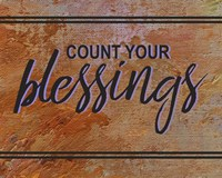 Count Your Blessing-Brown Fine Art Print