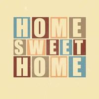 Home Sweet Home-Retro Fine Art Print