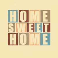 Home Sweet Home-Retro Fine Art Print