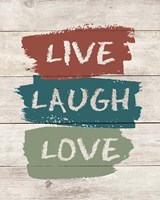 live Laugh Love-Wood Fine Art Print