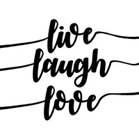 Live Laugh Love-Script Fine Art Print