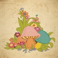 Colorful Mushrooms Fine Art Print