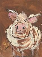 Brown Pig Fine Art Print