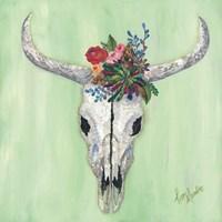 Floral Bull Skull Fine Art Print