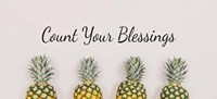 Count Your Blessings Pineapples Framed Print