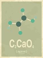 Molecule Agave Green Fine Art Print