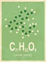 Molecule Aloe Vera Green Fine Art Print
