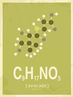 Molecule Avocado Green Fine Art Print