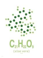 Molecule Aloe vera Clean Fine Art Print
