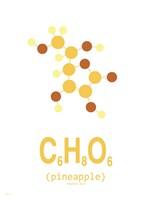 Molecule Pinapple Clean Fine Art Print