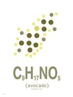 Molecule Avocado Clean Fine Art Print