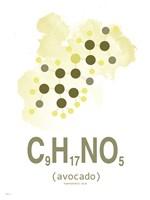 Molecule Avocado Aqua Fine Art Print