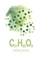 Molecule Aloe Vera Aqua Fine Art Print