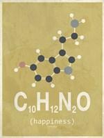Molecule Happiness - Beige Fine Art Print