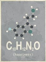 Molecule Happiness- Dark Grey Fine Art Print