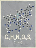 Molecule Love-Dark Grey Fine Art Print