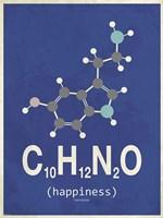 Molecule Happiness- Dark Blue Fine Art Print