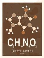 Molecule Caffe Latte Fine Art Print
